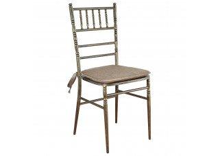 Cadeira Ferro Ouro Velho com Assento