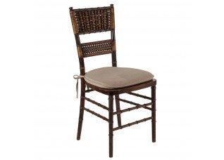Cadeira Itália Madeira com Encosto Palha