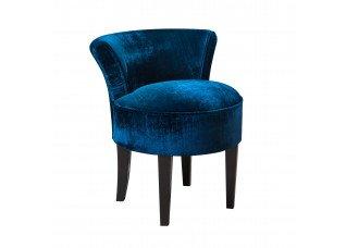 Poltrona Mignon Veludo Molhado Azul