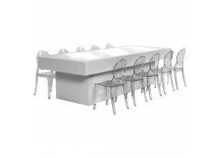 Mesa Balcão Baixa com Cadeiras Mini Ghost